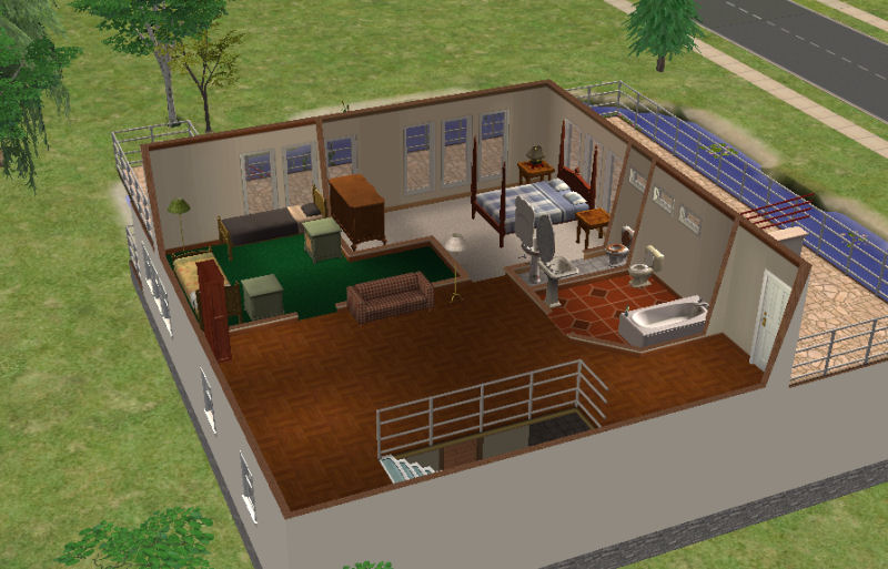 Mod The Sims Basegame Intermediate Falling Water 58k