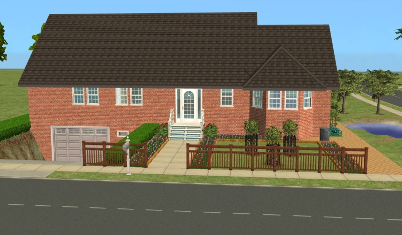 mod the sims 23 central drive house with basement garage and no cc. Black Bedroom Furniture Sets. Home Design Ideas