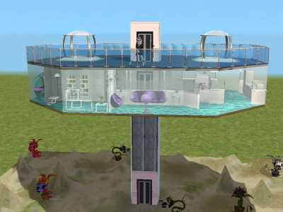 Mod The Sims Jetsons Style Sci Fi Home