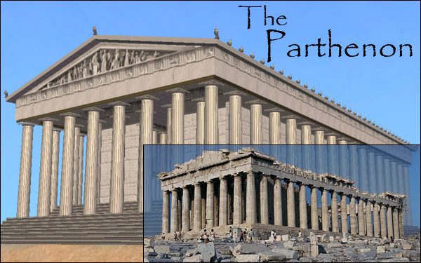 mod the sims the parthenon 2 versions ruined and intact