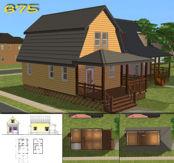 Mod the sims 39 katrina cottages 39 homes for your post for Katrina cottages pictures
