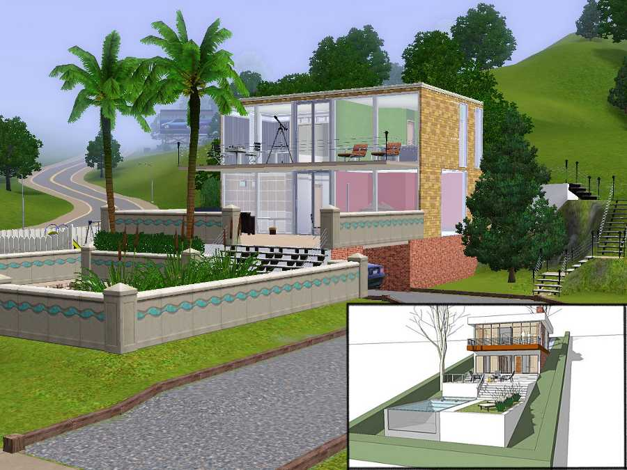 mod the sims - 3.14 degrees - 2 bedroom house