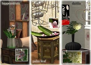mod the sims project kad 6 new contemporary flower arrangements. Black Bedroom Furniture Sets. Home Design Ideas