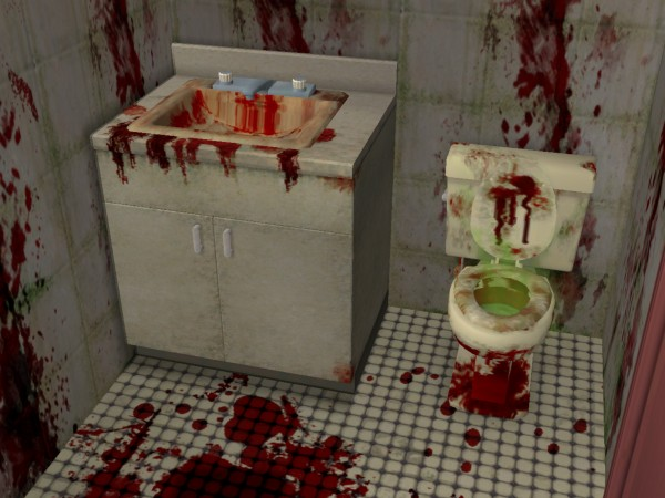 Mod The Sims Comedy711 S Bloody Restroom Set