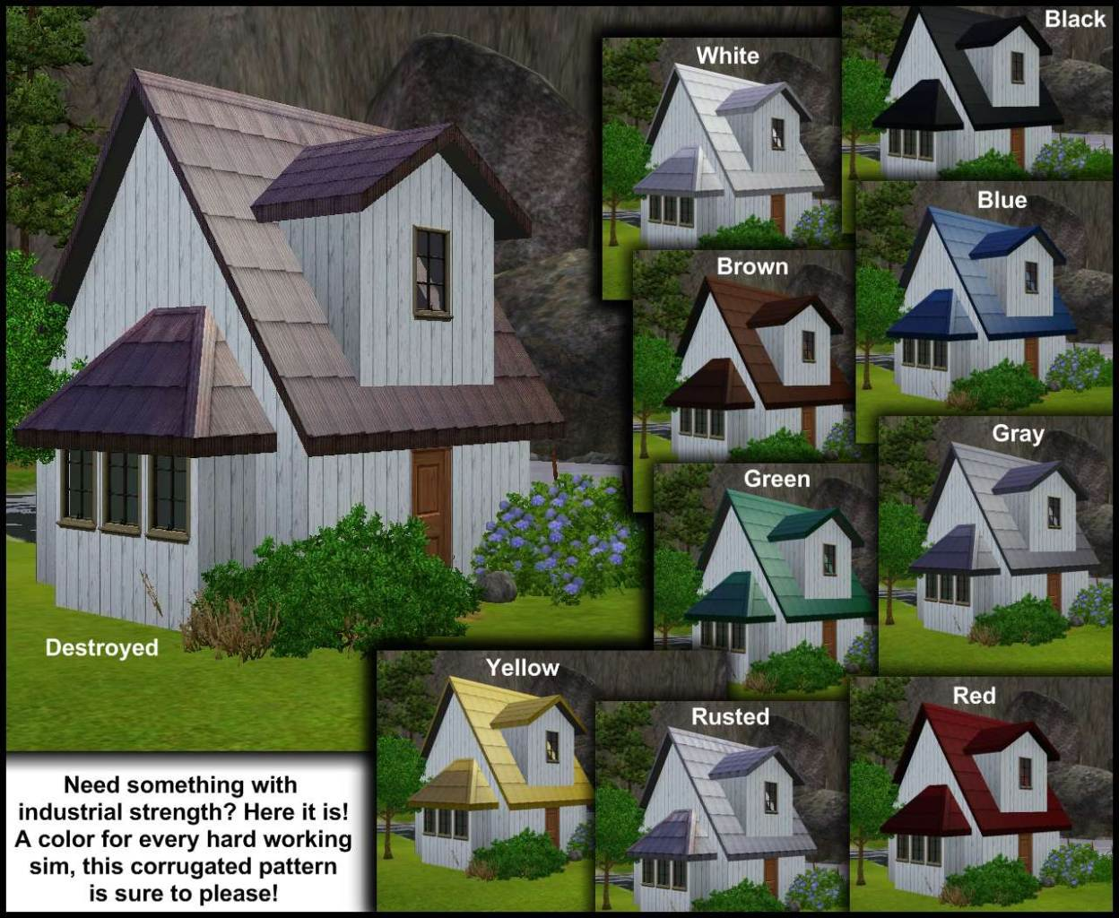 Mod The Sims - Raise the Roof! Then Put Down a Better One ...