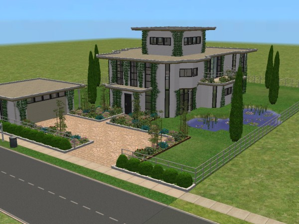 Mod The Sims Modeco House Modern Art Deco No 2