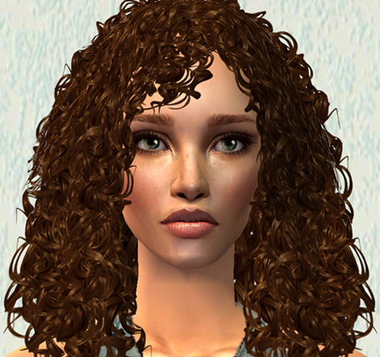 Sims 2 Hairstyles: Sim Model Camie