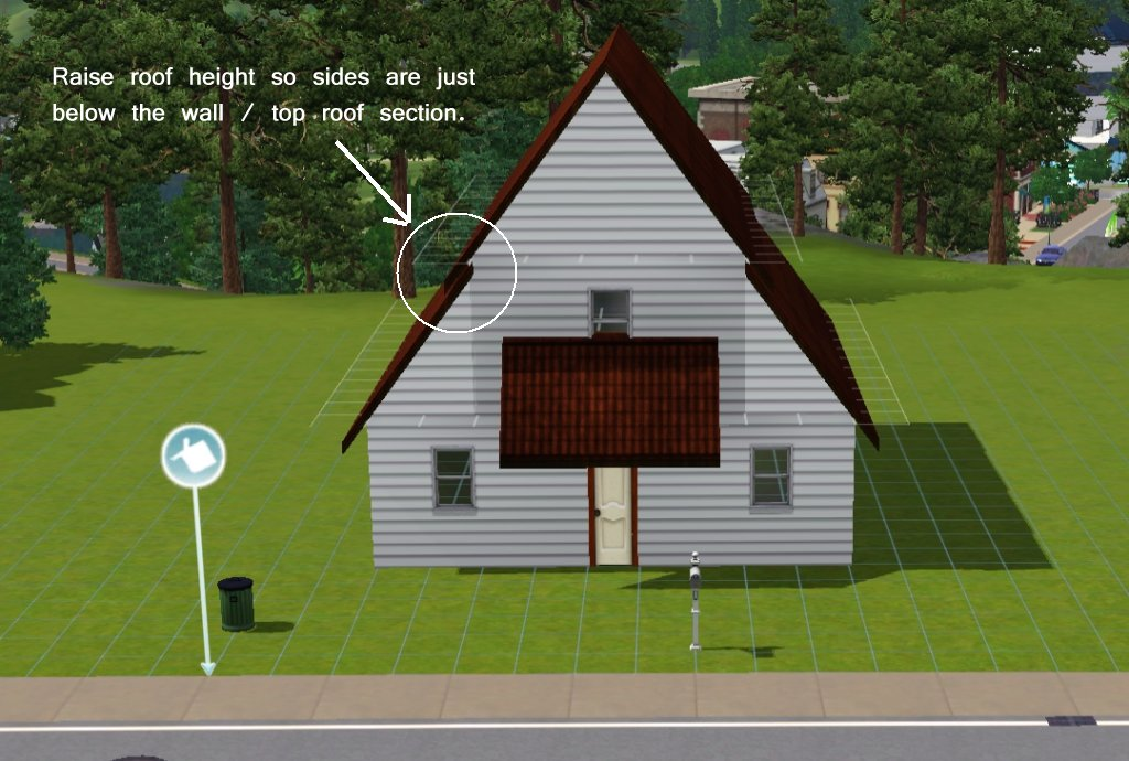 Mod The Sims Tutorial How To Create A Basic Roof With