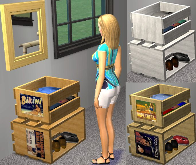 Mod the sims crate furniture How to store clothes without a dresser