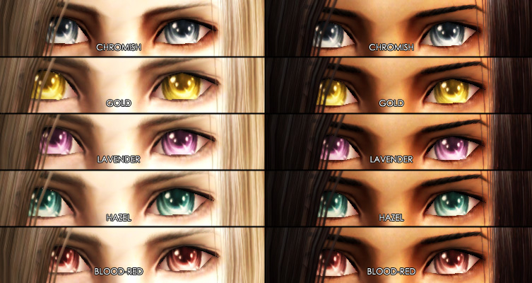 Anime Characters With 3 Eyes : Mod the sims unnaturally coloured anime ish eyes edited