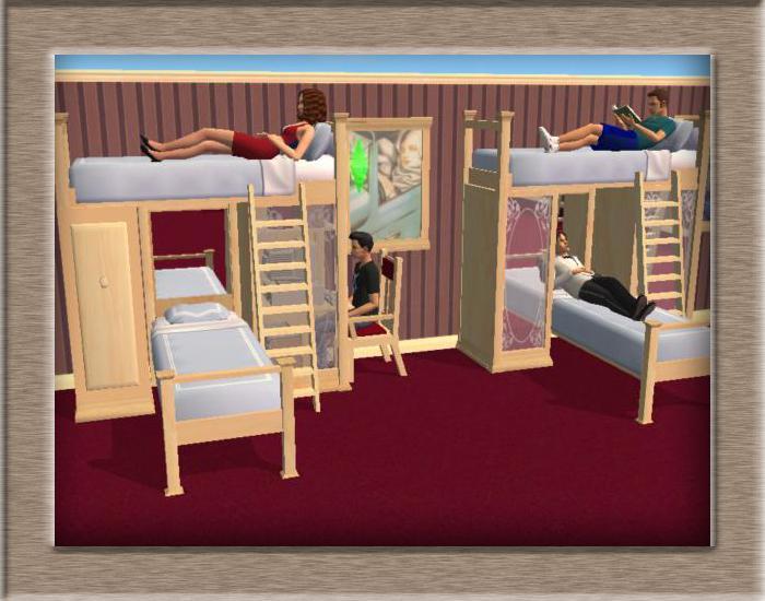 Как в симсах сделать двухъярусную кровать