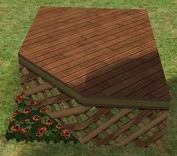 Sims  Build Mode Half Tile