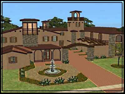 Mod the sims classic series spanish eclectic furnished for Classic house sims 4