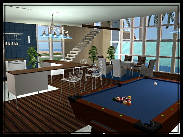 Mod The Sims Pacifica Modern Furnished Or Unfurnished