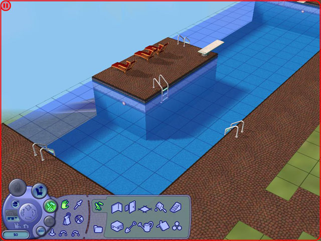 Mod the sims cliffside pool really cool using pool cheat for Pool design sims 4