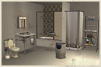 Mod the sims broken bathroom for Shattered mirror bathroom floor
