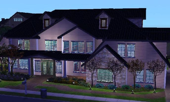 Mod the sims 3 bed 4 bath estate no cc for Sims 3 6 bedroom house