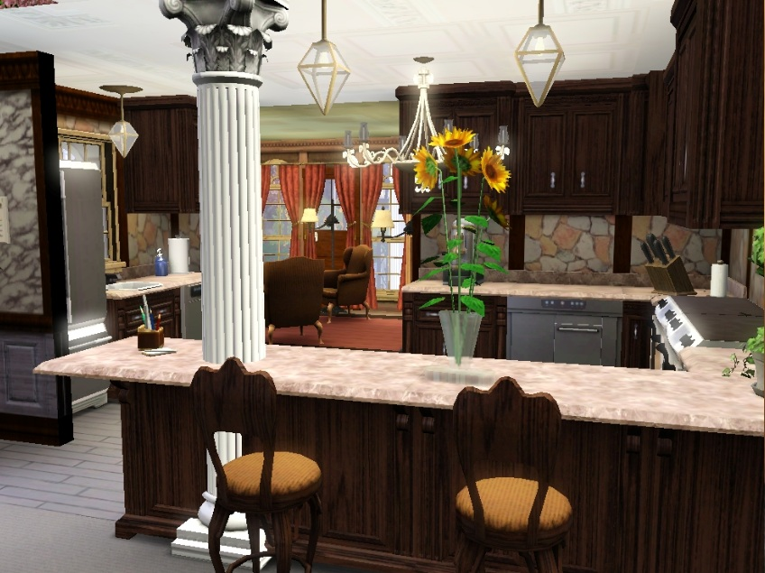 Mod the sims mts official contest foundations round 2 for Sims 3 kitchen designs