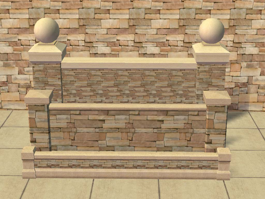 Mod the sims funtango fencing set brick stone fences