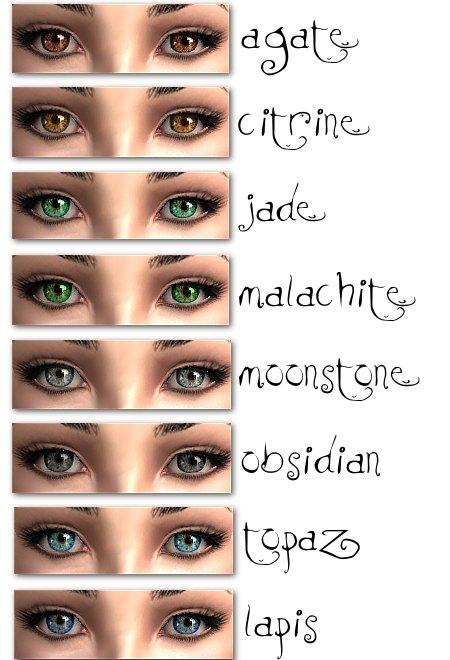 Mod The Sims - DEFAULTS of 'Mystic Eyes' by hrekkjavaka ...