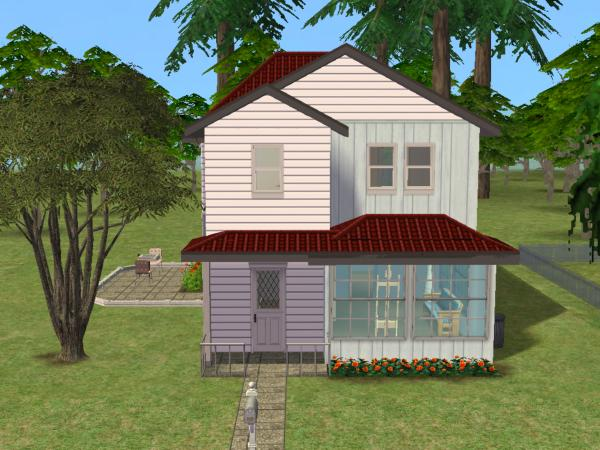 Mod the sims small homes a two story starter no cc for Small starter homes