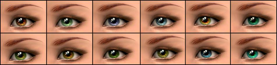 Mod The Sims - Sparkling eyes (12 colors)
