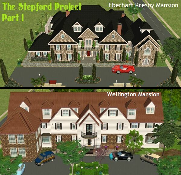 Mod the sims the stepford project i 2 mansions by d d i for Sims 3 mansion floor plans