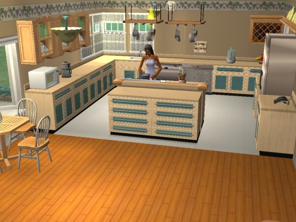 Mod the sims the quincy 4 bed 3 bath no cc for Perfect kitchen and bath quincy