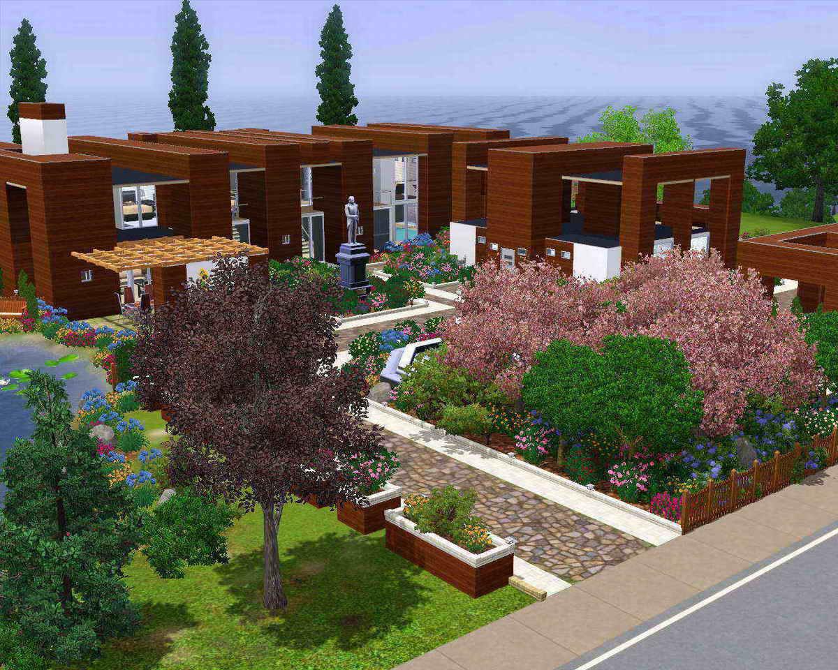 Mod the sims casa de moderna for Casa moderna 6x6