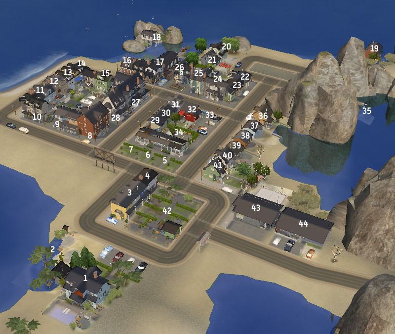 ModTheSims - Elsewhere -- Neighbourhood with lots