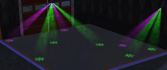 Mod The Sims Dance Projector Lights Various Colors Shapes