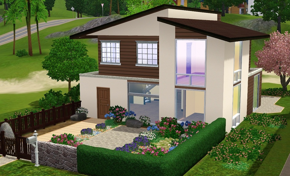 Mod The Sims 31st Street A Tropical Modern House