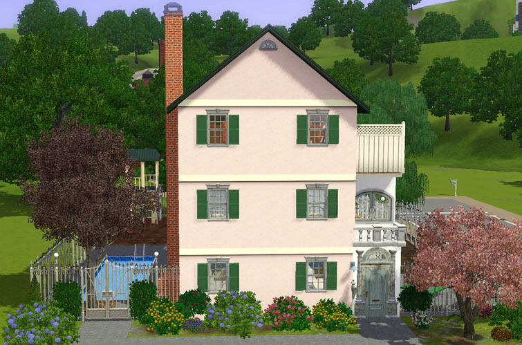 Mod The Sims Charleston Side House 3 Or 5 Bdr 4 Ba
