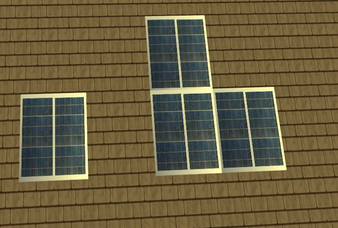 Mod The Sims Eco Friendly Solar Panels By Cc Designs