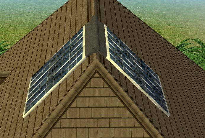 Mod the sims eco friendly solar panels by cc designs for Solar energy games