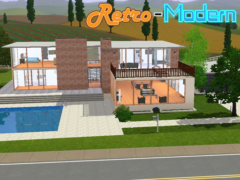 Mod the sims retro modern - Retro home design ...