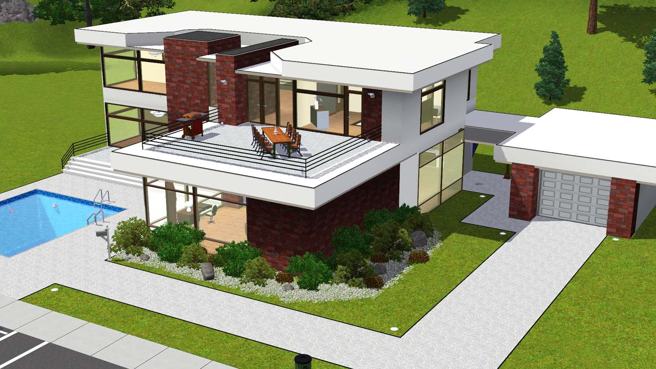 Sims 2 house plans ideas house interior for Sims 2 house designs floor plans