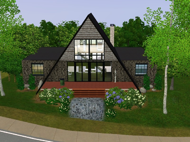 Mod the sims modern stone no cc Granite a frame plans