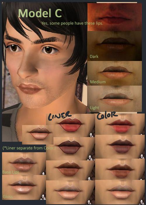 mod the sims who are you unique lip shapes plus layerable