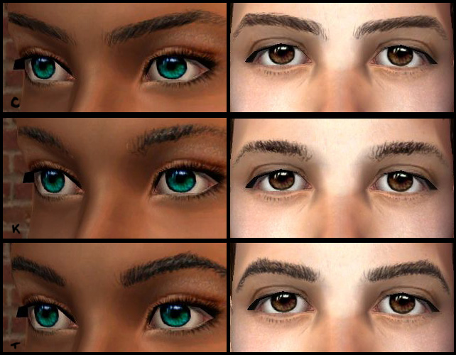 Mod The Sims March Of Brows Three Realistic Uniquely Shaped