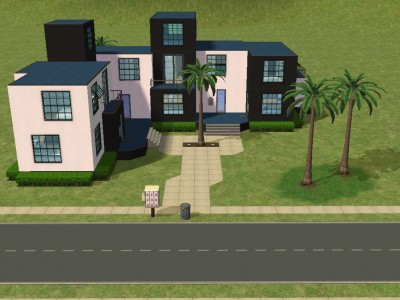 r_home_designs_834847_mdl_front_view best sims 2 house designs house design ideas on cool sims - Sims 4 Home Design 2
