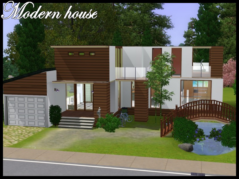 Mod The Sims - Modern house with little bridge