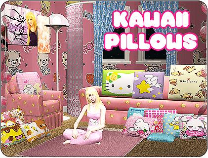 Mod The Sims Girls Room Clutter Pillows