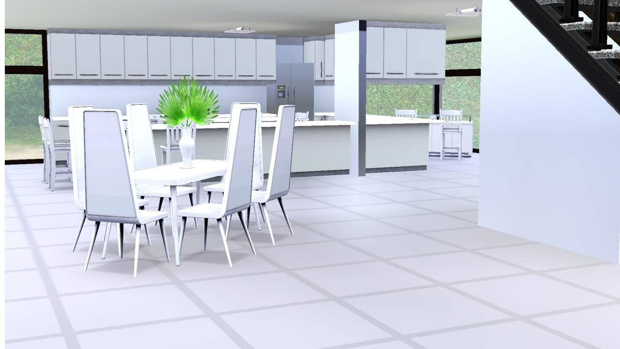 Mod the sims breezy white modern natural beach home 3br 2b for Modern kitchen sims 3