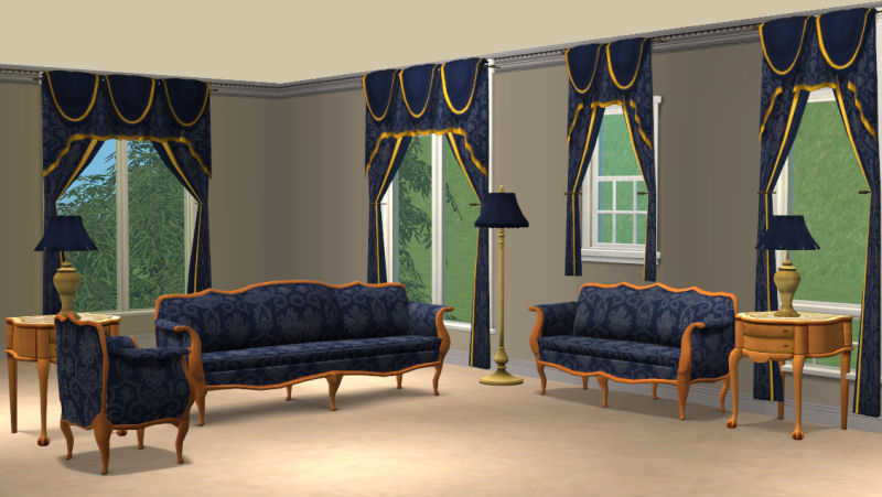 mod the sims blue damask livingroom sets. beautiful ideas. Home Design Ideas