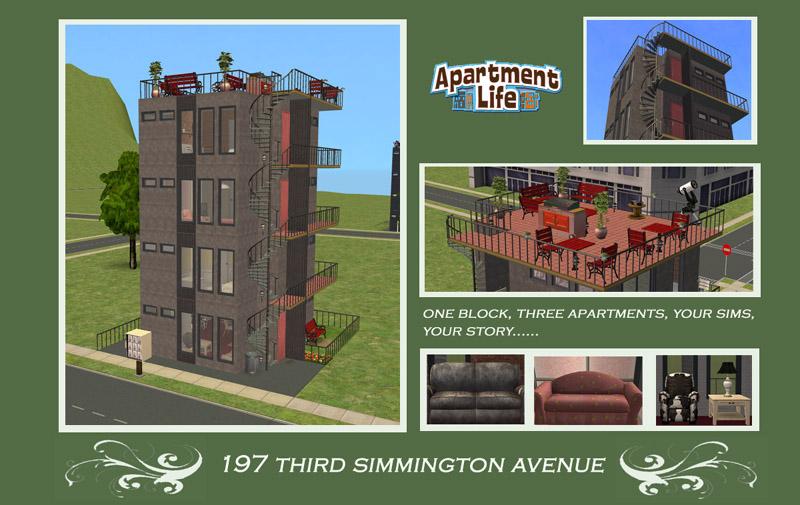Apartment Building Door mod the sims - milk bottle apartment door model changer