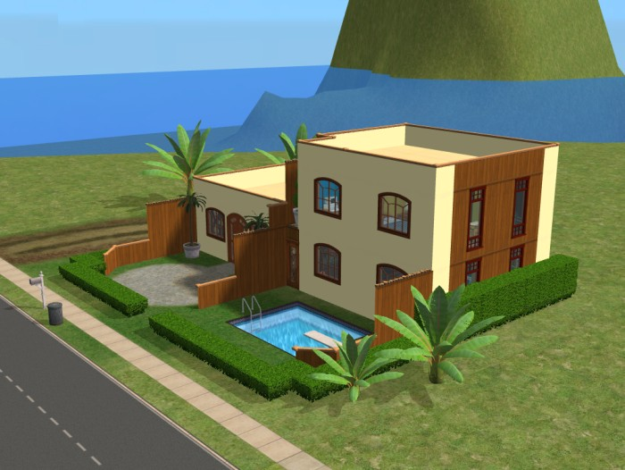 House plans for sims 2 double deluxe for Sims 2 home designs