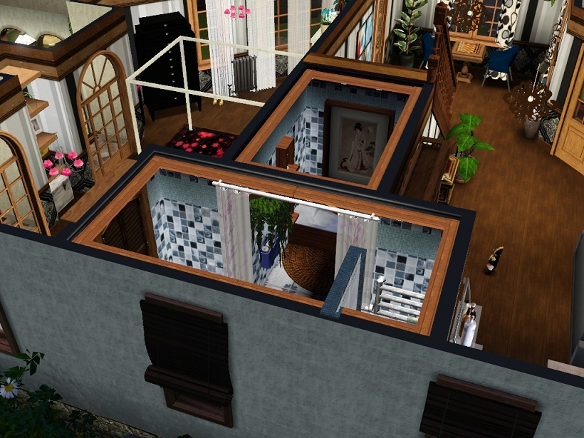 how to build stairs with a landing sims 3