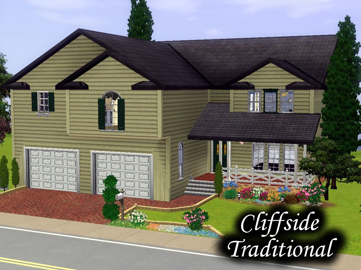 Mod the sims cliff side traditional 4 bedrooms 3 bathrooms for Sims 3 6 bedroom house