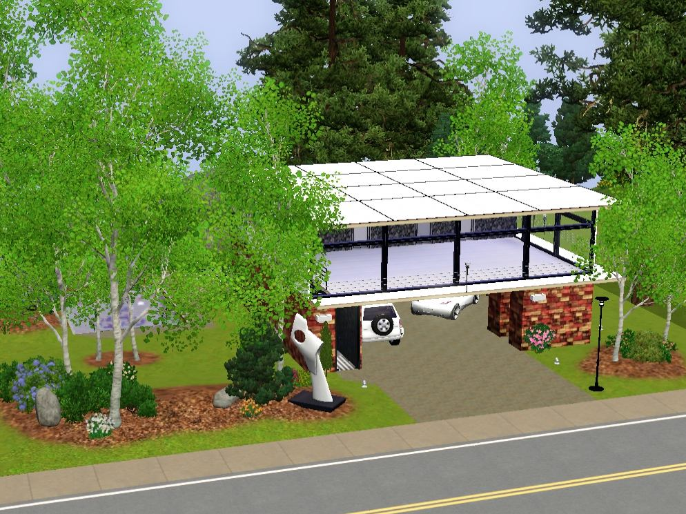 Mod the sims cliff side modern 2 bedrooms 1 bath for Garden room 2x3